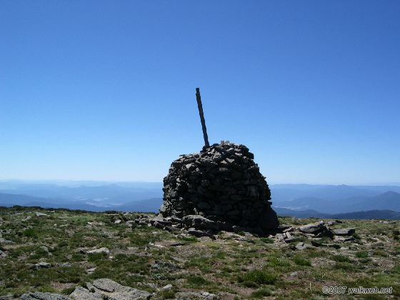 Mt Bogong summit cairn