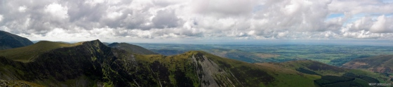 Hopegill Head panorama (from Grisedale Pike)