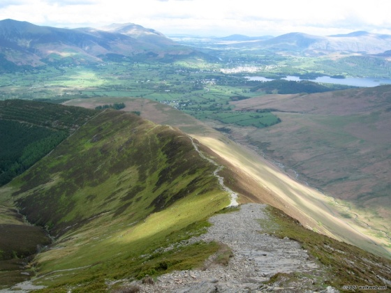 Looking towards Braithwaite from Grisedale Pike