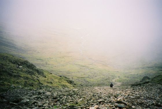 Descending from Pillar into Mosedale