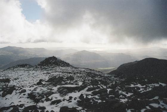 View from Summit of Scafell Pike (Lake District, England)